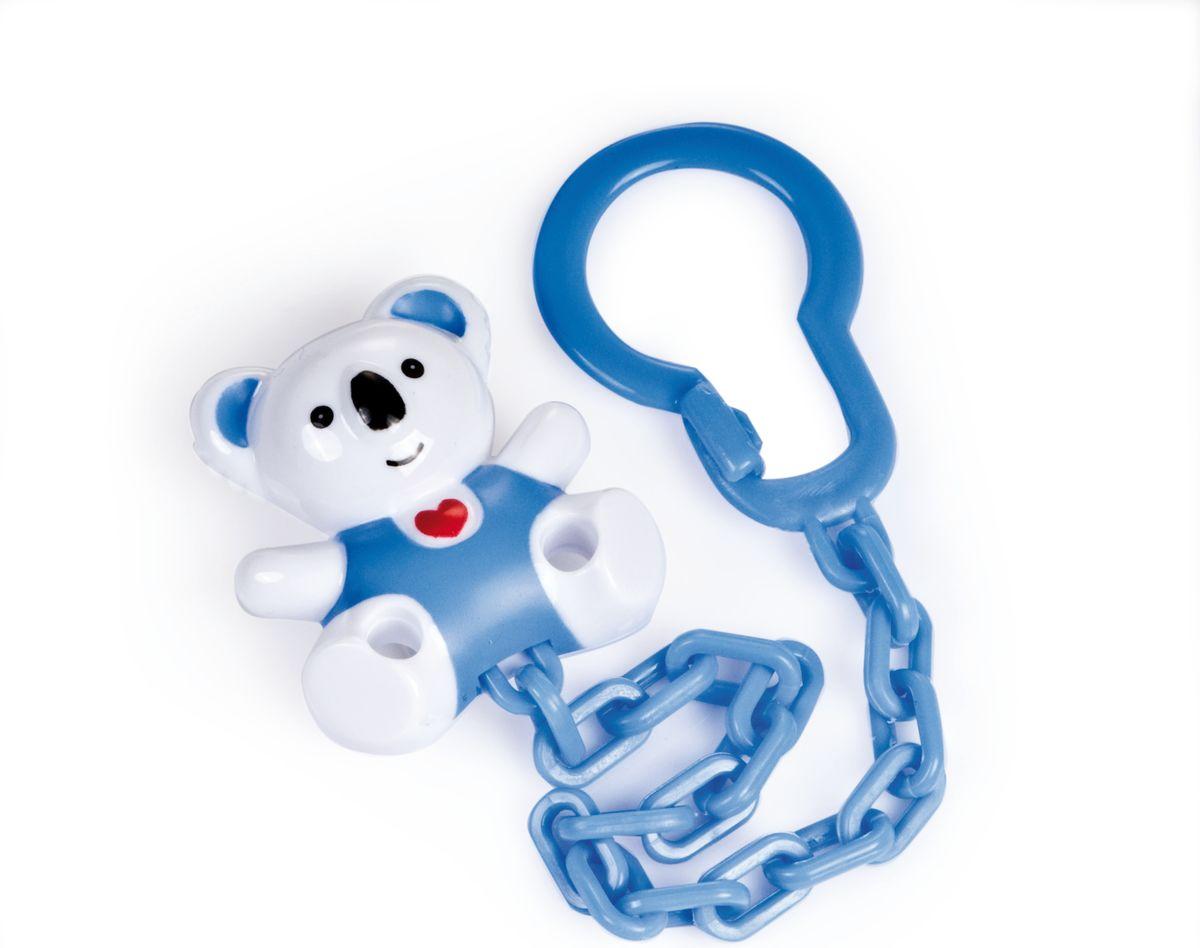 Canpol Babies Клипса-держатель для пустышки Медвежонок с сердечком цвет белый