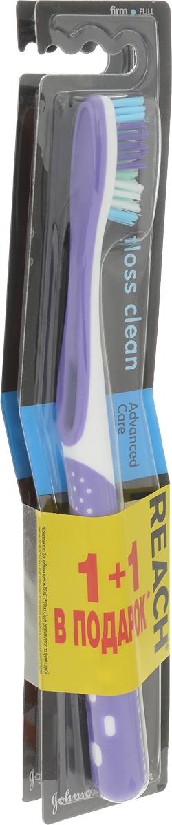 Reach Зубная щетка Floss Clean, жесткая, 1+1, цвет: фиолетовый, оранжевыйSatin Hair 7 BR730MNУникальные тонкие щетинки глубоко проникают в самые узкие межзубные промежутки и превосходно очищают все поверхности зуба, как после использования зубной щетки и нити (флосса), поэтому щетка называется Floss Clean. Удаляет до 96% зубного налета даже в самых труднодоступных местах. Клинические исследования доказали, что Reach Floss Clean удаляет зубной налет со всех пяти поверхностей зубов.Товар сертифицирован.