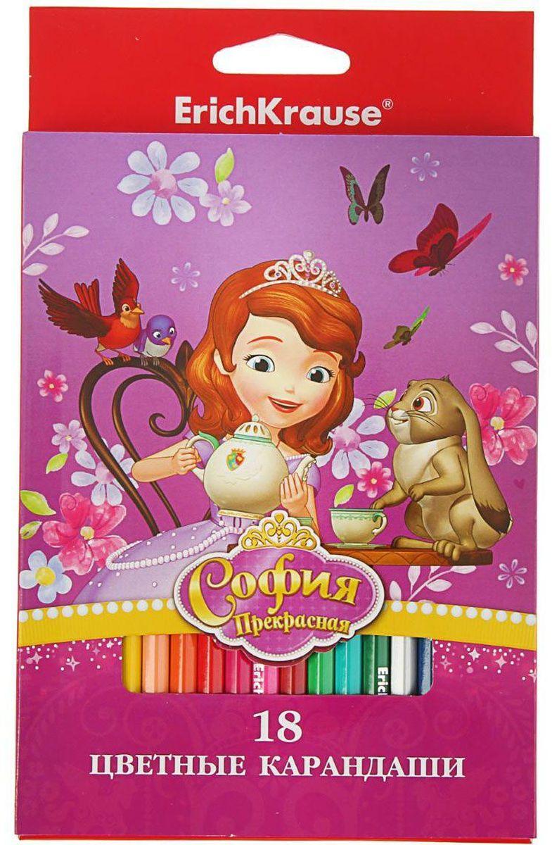 Disney Набор карандашей Sofia in Flowers 18 цветов1380984Набор Disney Sofia in Flowers состоит из 18 деревянных цветных карандашей, которые откроют юным художникам новые горизонты для творчества, а также помогут отлично развить мелкую моторику рук, фантазию и воображение.