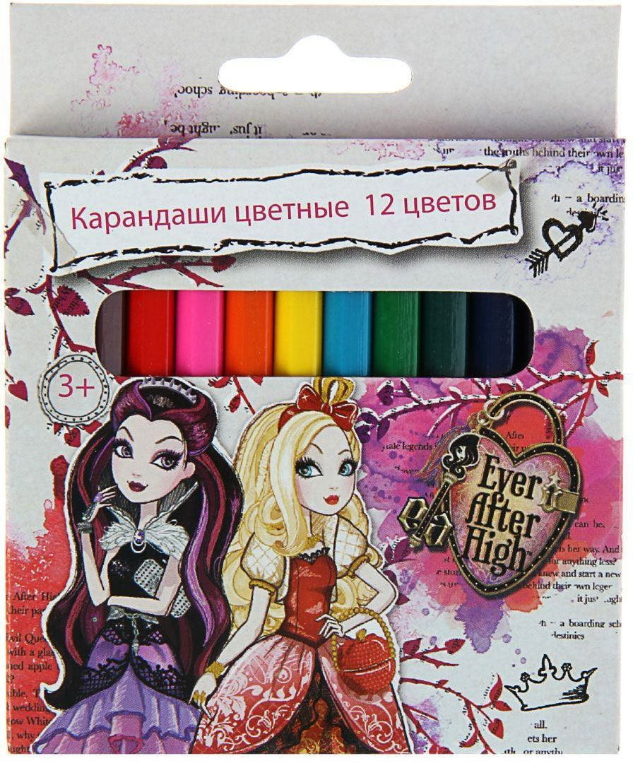 Ever After High Набор карандашей 12 цветов 13846081384608Набор карандашей Ever After High состоит из 12 деревянных цветных карандашей, они откроют юным художникам новые горизонты для творчества, а также помогут отлично развить мелкую моторику рук, цветовое восприятие, фантазию и воображение.
