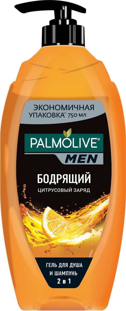 Palmolive Гель для душа Цитрусовый заряд мужской 750 млFS-00897Гель для душа - 1 шт, зарядит энергией и уверенностью на целый день, яркий мужской аромат, формула обогащена экстрактами грейпфрута и бергамота.