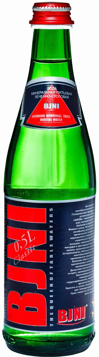Бжни вода газированная, 0,5 л0120710Вода минеральная питьевая лечебно-столовая БЖНИ Класик 0.5 л. стекло слабогазированная