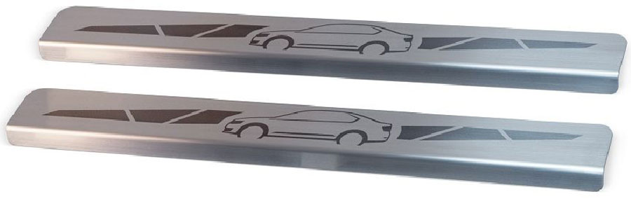 Накладки на пороги Автоброня, для Lada 4x4 3-дверная 1995-, 2 шт1004900000360Накладки на пороги Автоброня создают индивидуальный интерьер автомобиля и защищают лакокрасочное покрытие от механических повреждений.- В комплект входят 2 накладки.- Использование высококачественной итальянской нержавеющей стали AISI 304(толщина 0,5 мм).- Надежная фиксация на автомобиле с помощью скотча 3М серии VHB.- Устойчивое к истиранию изображение на накладках нанесено методом абразивной полировки.- Идеально повторяют геометрию порогов автомобиля.- Легкая и быстрая установка.