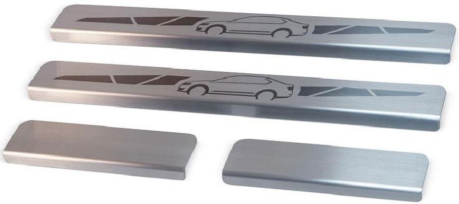 Накладки на пороги Автоброня, для Renault Sandero 2014-, 4 шт. NPRESAN011NPRESAN011Накладки на пороги Автоброня создают индивидуальный интерьер автомобиля и защищают лакокрасочное покрытие от механических повреждений.Особенности:- Использование высококачественной итальянской нержавеющей стали AISI 304 (толщина 0,5 мм).- Надежная фиксация на автомобиле с помощью скотча 3М серии VHB.- Устойчивое к истиранию изображение на накладках нанесено методом абразивной полировки.- Идеально повторяют геометрию порогов автомобиля.- Легкая и быстрая установка.В комплект входят 4 накладки (2 передние и 2 задние).