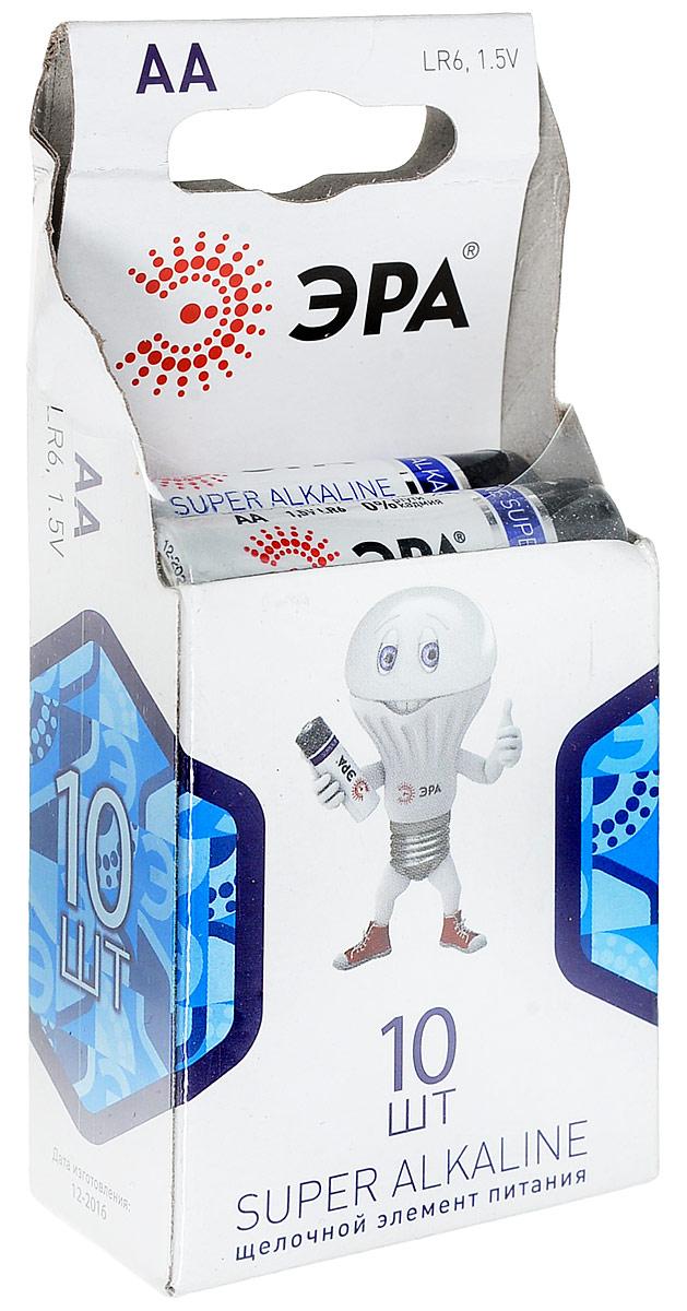 Набор батареек алкалиновых ЭРА Energy, тип AA (LR6-10BL), 1,5В, 10 шт1651Щелочные (алкалиновые) батарейки ЭРА Energy оптимально подходят для повседневного питания множества современных бытовых приборов: электронных игрушек, фонарей, беспроводной компьютерной периферии и многого другого. Не содержат кадмия и ртути. Батарейки созданы для устройств со средним и высоким потреблением энергии. Работают в 10 раз дольше, чем обычные солевые элементы питания. Размер батарейки: 1,4 см х 4,3 см.Уважаемые клиенты!Обращаем ваше внимание на возможные изменения в дизайне упаковки. Качественные характеристики товара остаются неизменными. Поставка осуществляется в зависимости от наличия на складе.