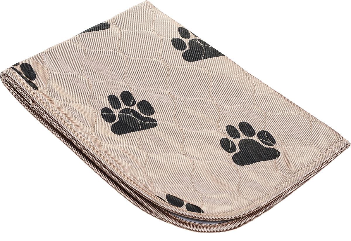Пеленка впитывающая для животных V.I.Pet, многоразовая, цвет: бежевый, 60 х 40 см0120710Впитывающие пеленки V.I.Pet предназначены для щенков, котят, собак мелких пород. Используются как комфортные впитывающие подстилки в туалетных лотках, в переносках, в автомобиле.Преимущество этих пеленок в том, что они устойчивы к воздействию когтей и зубов. Супервпитывающие многоразовые пеленки состоят из четырёх слоёв: - первый слой - приятная на ощупь поверхность из микрофибры, которая хорошо пропускает влагу, быстро сохнет;- второй слой отлично впитывает, не давая жидкости растекаться; - полиуретановый слой исключает протекание жидкости; - нескользящий защитный слой. Многоразовые пеленки не загрязняют окружающую среду и экономят ваши деньги! Рекомендуется ручная или машинная стирка с использованием жидкого моющего средства или стирального порошка, но без отбеливателя при температуре 40-60°. Размер пеленки: 60 х 40 см. Материал: абсорбирующий суперполимер.Товар сертифицирован.
