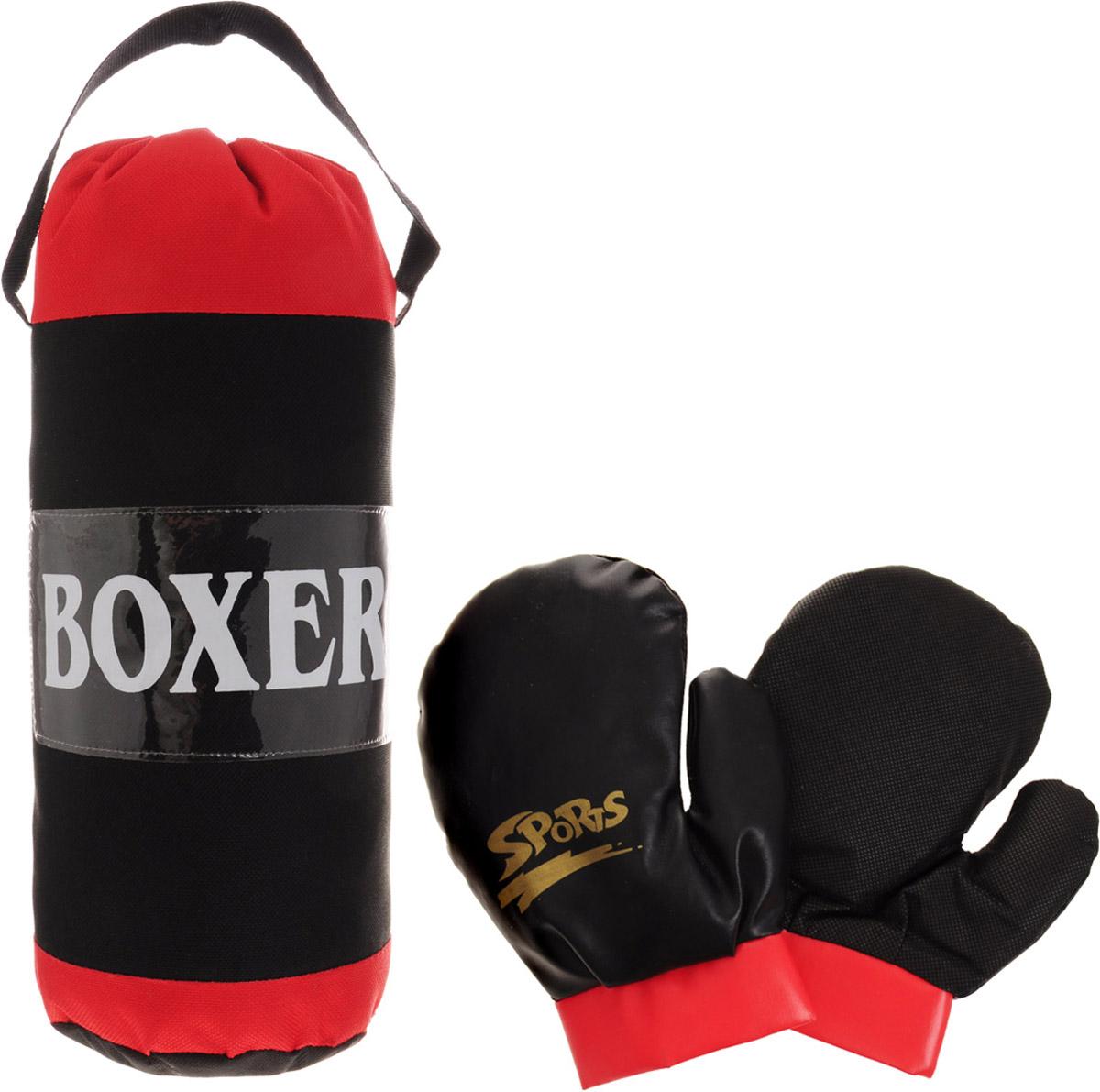 Junfa Toys Игровой набор Boxer цвет красный черный
