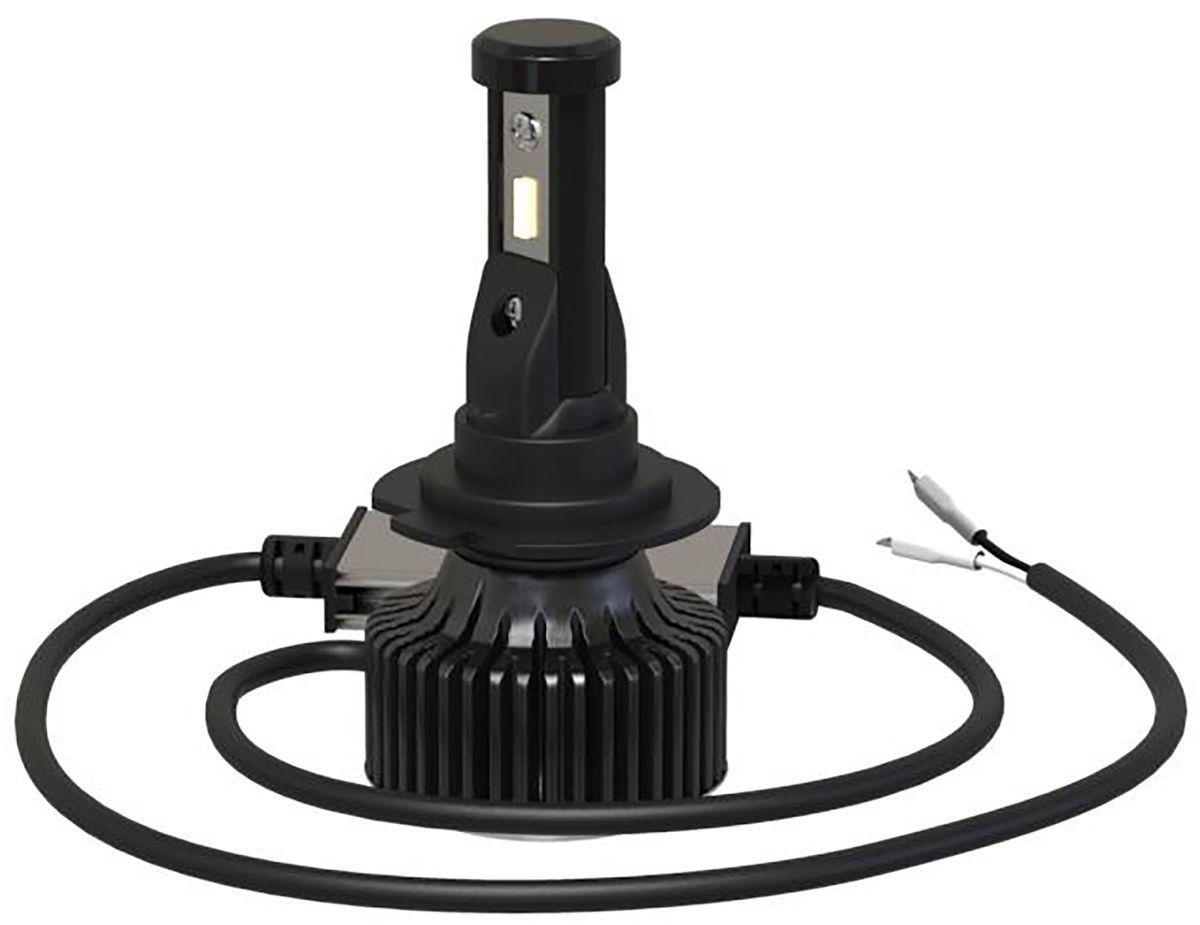 Лампа автомобильная светодиодная Clearlight Laser Vision, цоколь H1, 2800 Лм, 2 штCLLVLEDH1Инновационная система охлаждения гарантирует надежность и безопасность работы лампы при ее эксплуатации, а также значительно облегчает установку лампы. В лампах LED Laser Vision используются сверхмощные и надежные светодиоды Epistar с высокой светоотдачей, непревзойденной надежностью и безупречным ярким светом, сравнимым с ксеноном.Коллекция LED Laser Vision немецкое качество в доступном исполнении. Новую серию ламп LED Clearlight Laser Vision отличает универсальность, компактность, алюминиевый радиатор охлаждения, выносной блок драйвера, гарантия бесперебойной работы, долговечность, точная фокусировка, интенсивное и равномерное свечение, пониженое энергопотребление 14 Вт., водонепронецаемость IP66, яркость 2800 lm, срок службы более 30 000 часов.
