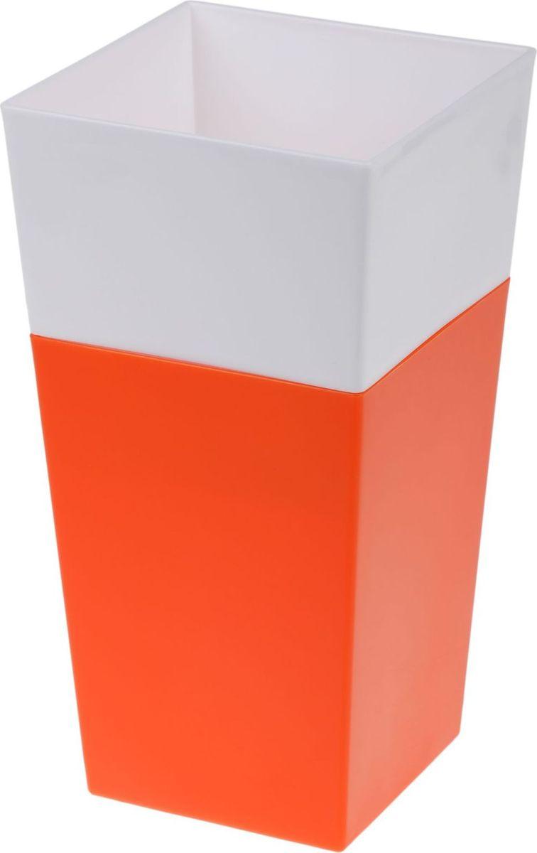 Кашпо JetPlast Дуэт, цвет: оранжевый, белый, высота 26 см4612754052103Любой, даже самый современный и продуманный интерьер будет не завершённым без растений. Они не только очищают воздух и насыщают его кислородом, но и заметно украшают окружающее пространство. Такому полезному &laquo члену семьи&raquoпросто необходимо красивое и функциональное кашпо, оригинальный горшок или необычная ваза! Мы предлагаем - Кашпо 1,8 л Дуэт, цвет оранжево-белый!Оптимальный выбор материала &mdash &nbsp пластмасса! Почему мы так считаем? Малый вес. С лёгкостью переносите горшки и кашпо с места на место, ставьте их на столики или полки, подвешивайте под потолок, не беспокоясь о нагрузке. Простота ухода. Пластиковые изделия не нуждаются в специальных условиях хранения. Их&nbsp легко чистить &mdashдостаточно просто сполоснуть тёплой водой. Никаких царапин. Пластиковые кашпо не царапают и не загрязняют поверхности, на которых стоят. Пластик дольше хранит влагу, а значит &mdashрастение реже нуждается в поливе. Пластмасса не пропускает воздух &mdashкорневой системе растения не грозят резкие перепады температур. Огромный выбор форм, декора и расцветок &mdashвы без труда подберёте что-то, что идеально впишется в уже существующий интерьер.Соблюдая нехитрые правила ухода, вы можете заметно продлить срок службы горшков, вазонов и кашпо из пластика: всегда учитывайте размер кроны и корневой системы растения (при разрастании большое растение способно повредить маленький горшок)берегите изделие от воздействия прямых солнечных лучей, чтобы кашпо и горшки не выцветалидержите кашпо и горшки из пластика подальше от нагревающихся поверхностей.Создавайте прекрасные цветочные композиции, выращивайте рассаду или необычные растения, а низкие цены позволят вам не ограничивать себя в выборе.