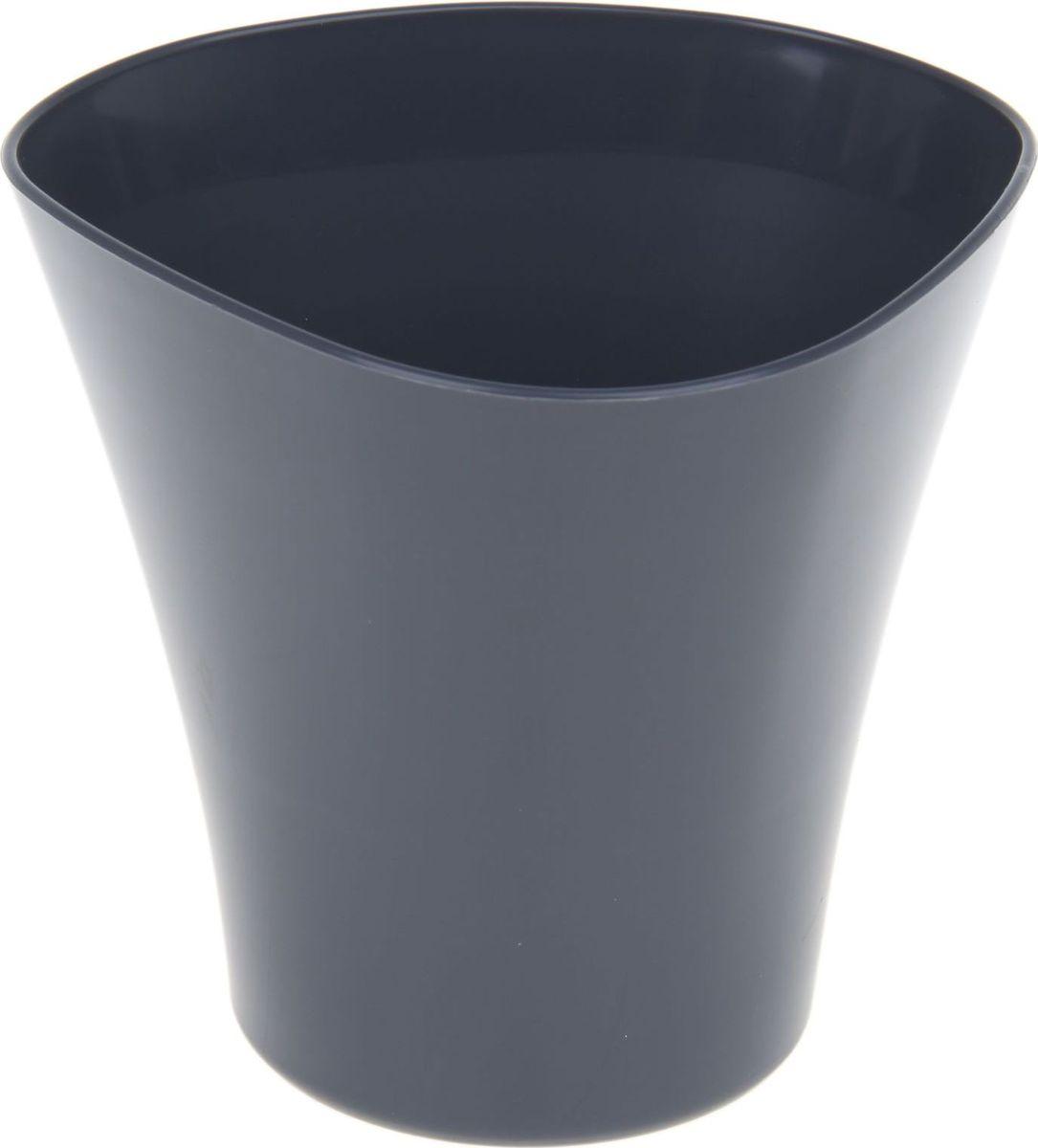 Кашпо JetPlast Волна, цвет: антрацит, 600 мл531-401Кашпо Волна имеет уникальную форму, сочетающуюся как с классическим, так и с современным дизайном интерьера. Оно изготовлено из прочного полипропилена (пластика) и предназначено для выращивания растений, цветов и трав в домашних условиях. Такое кашпо порадует вас функциональностью, а благодаря лаконичному дизайну впишется в любой интерьер помещения. Объем кашпо: 600 мл.