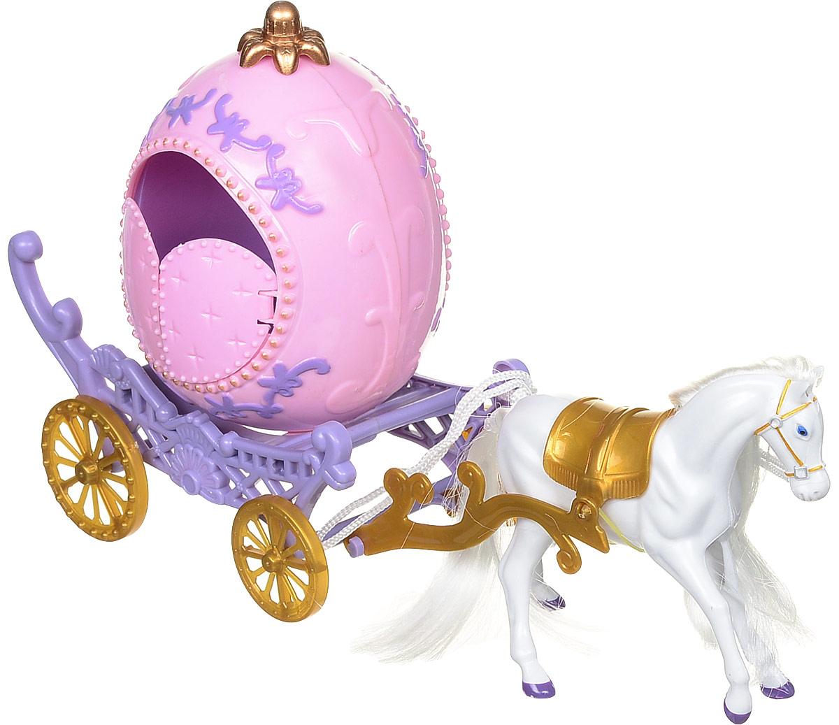 1TOY Игровой набор Карета с лошадью Красотка 1toy 1toy карета с лошадью для кукол 1 местн т53235