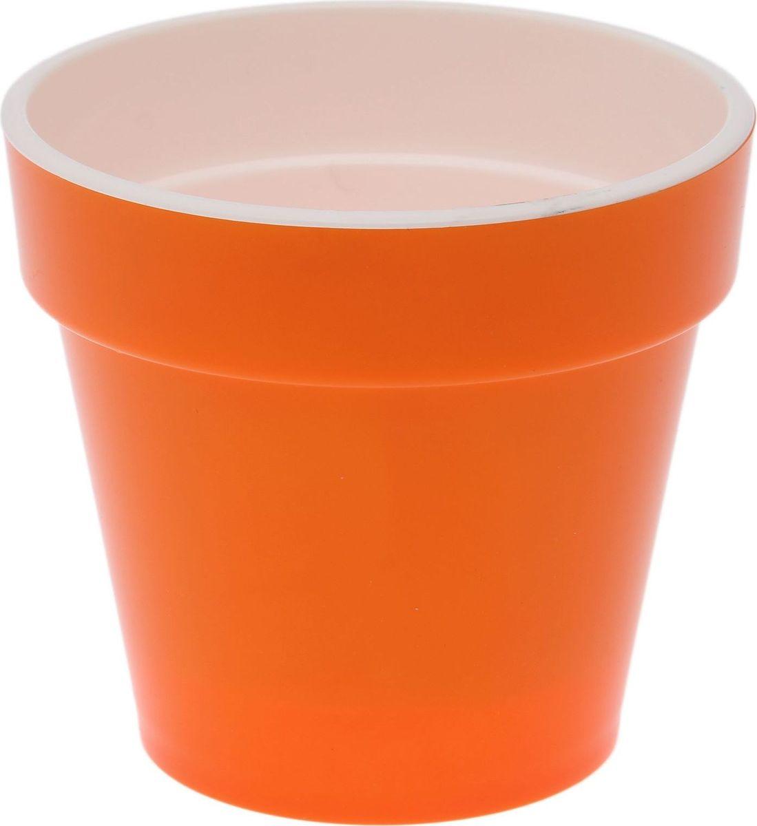 Кашпо JetPlast Порто, со вставкой, цвет: оранжевый, 1 л1063912Кашпо Порто классической формы с внутренней вставкой-горшком. Дренажная вставка позволяет легко поливать растения без использования дополнительного поддона. Вместительный объем кашпо позволяет высаживать самые разнообразные растения, а съемная вставка избавит вас от грязи и подчеркнет красоту цветка. Оно изготовлено из прочного полипропилена (пластика). Такое кашпо порадует вас функциональностью, а благодаря лаконичному дизайну впишется в любой интерьер помещения. Объем кашпо: 1 л.