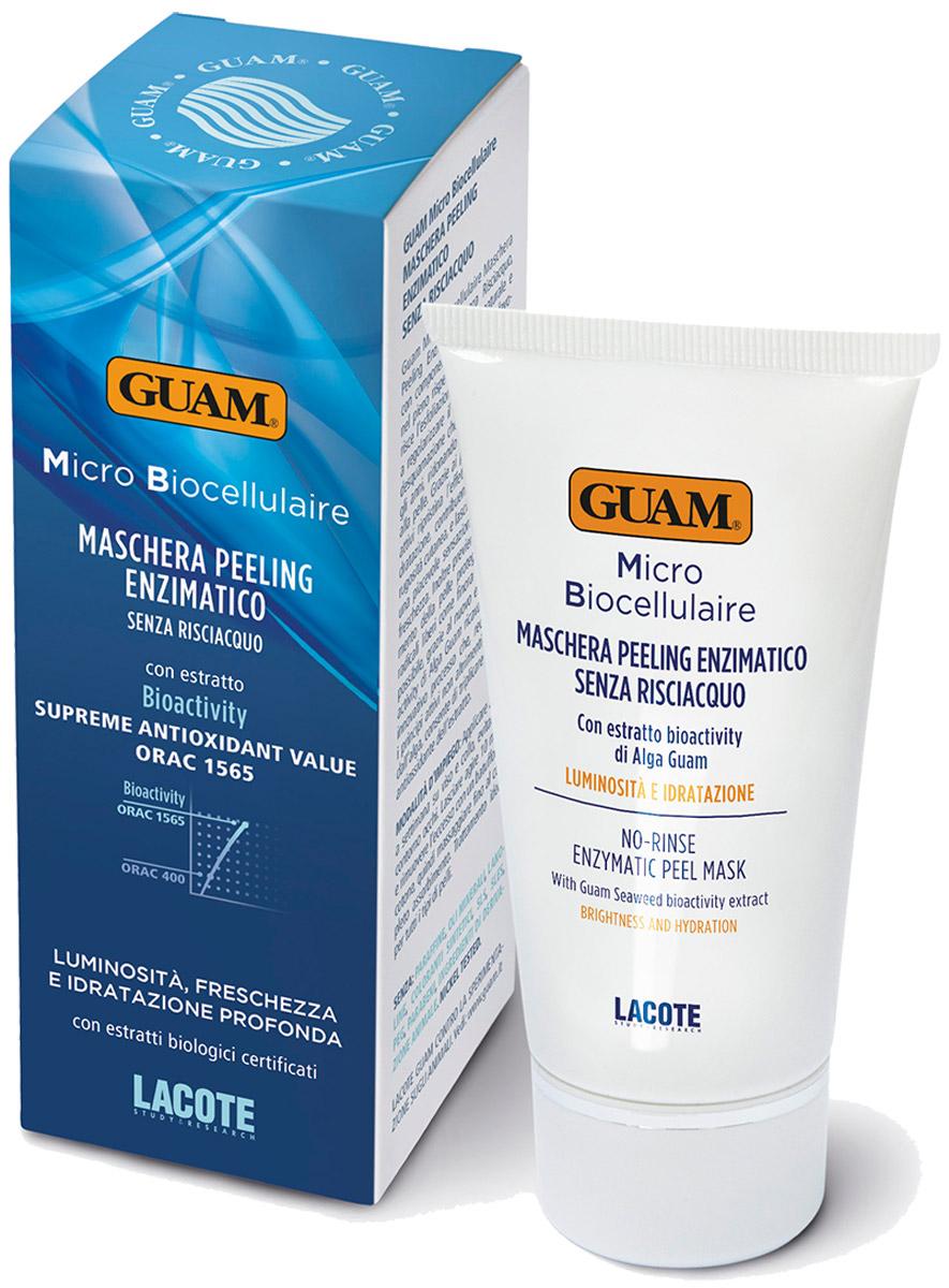 Guam Маска-скраб Micro Biocellulaire 75 млFS-00897Налаживает нормальный процесс отшелушивания отмерших клеток, благодаря чему происходит глубокое увлажнение, улучшается тонус и яркость кожи.