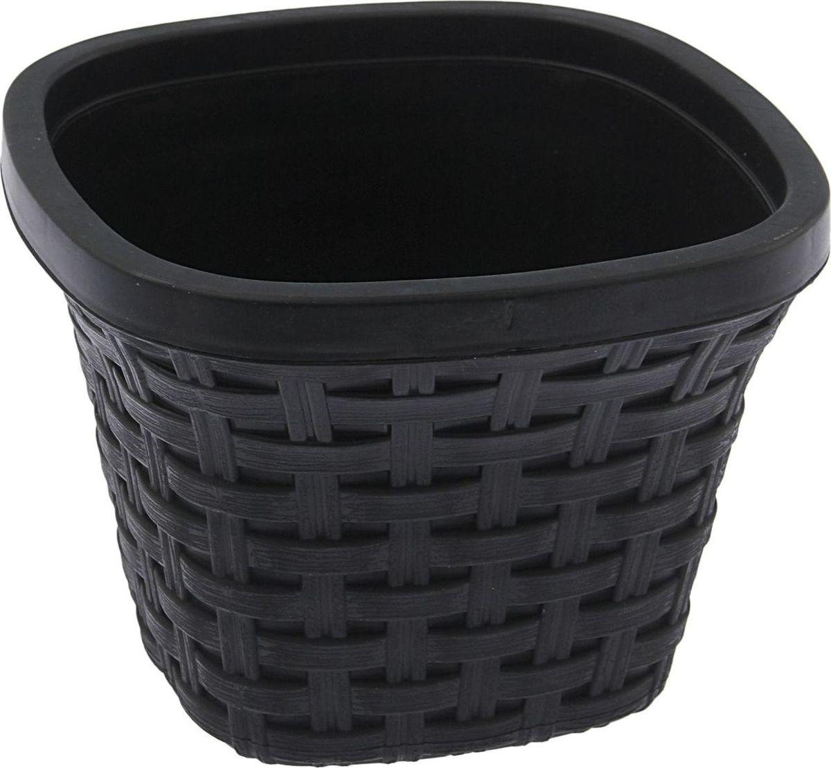 Кашпо квадратное Violet Ротанг, с дренажной системой, цвет: черный, 1,3 лПИ-6-10ТХЛюбой, даже самый современный и продуманный интерьер будет незавершённым без растений. Они не только очищают воздух и насыщают его кислородом, но и украшают окружающее пространство. Такому полезному члену семьи просто необходим красивый и функциональный дом! Мы предлагаем #name#! Оптимальный выбор материала — пластмасса! Почему мы так считаем?Малый вес. С лёгкостью переносите горшки и кашпо с места на место, ставьте их на столики или полки, не беспокоясь о нагрузке. Простота ухода. Кашпо не нуждается в специальных условиях хранения. Его легко чистить — достаточно просто сполоснуть тёплой водой. Никаких потёртостей. Такие кашпо не царапают и не загрязняют поверхности, на которых стоят. Пластик дольше хранит влагу, а значит, растение реже нуждается в поливе. Пластмасса не пропускает воздух — корневой системе растения не грозят резкие перепады температур. Огромный выбор форм, декора и расцветок — вы без труда найдёте что-то, что идеально впишется в уже существующий интерьер. Соблюдая нехитрые правила ухода, вы можете заметно продлить срок службы горшков и кашпо из пластика:всегда учитывайте размер кроны и корневой системы (при разрастании большое растение способно повредить маленький горшок)берегите изделие от воздействия прямых солнечных лучей, чтобы горшки не выцветалидержите кашпо из пластика подальше от нагревающихся поверхностей. Создавайте прекрасные цветочные композиции, выращивайте рассаду или необычные растения.