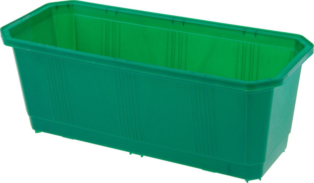 Ящик балконный InGreen, цвет: темно-зеленый, 40 х 17 х 15 см. ING1801ТЗЛZ-0307Балконный ящик InGreen, изготовленный из высококачественного цветного пластика, предназначен для выращивания цветов и рассады как на балконе, так и в комнатных условиях.