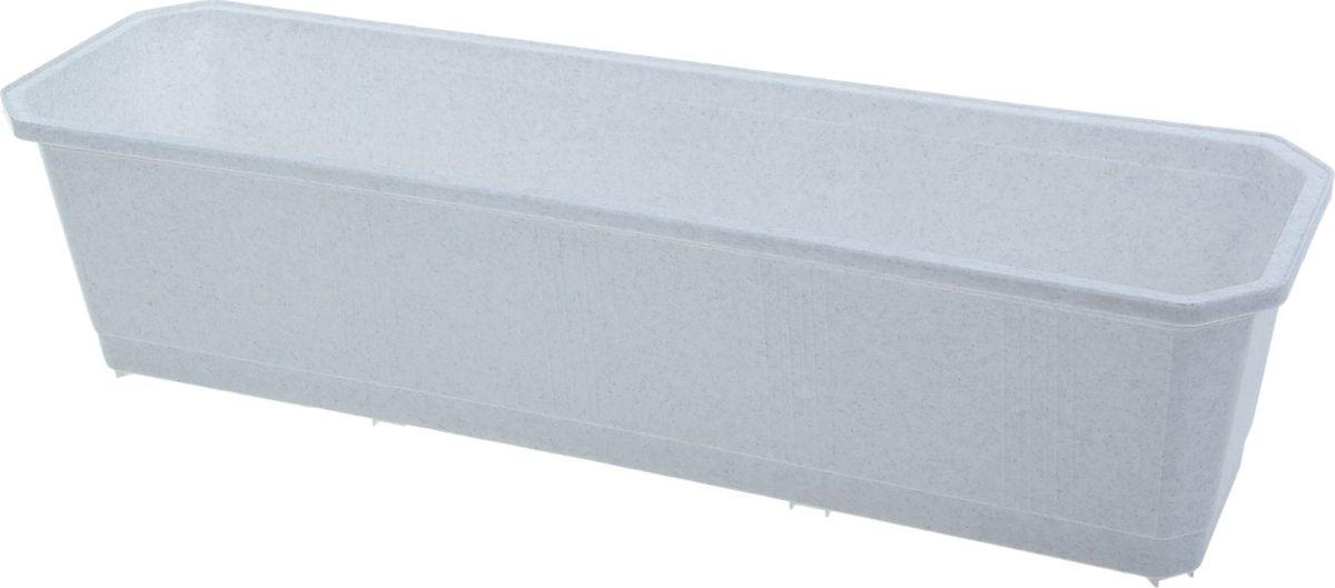 Ящик балконный InGreen, цвет: мраморный, 60 х 17 х 15 см. ING1802МРZ-0307Балконный ящик InGreen, изготовленный из высококачественного цветного пластика, предназначен для выращивания цветов и рассады как на балконе, так и в комнатных условиях.