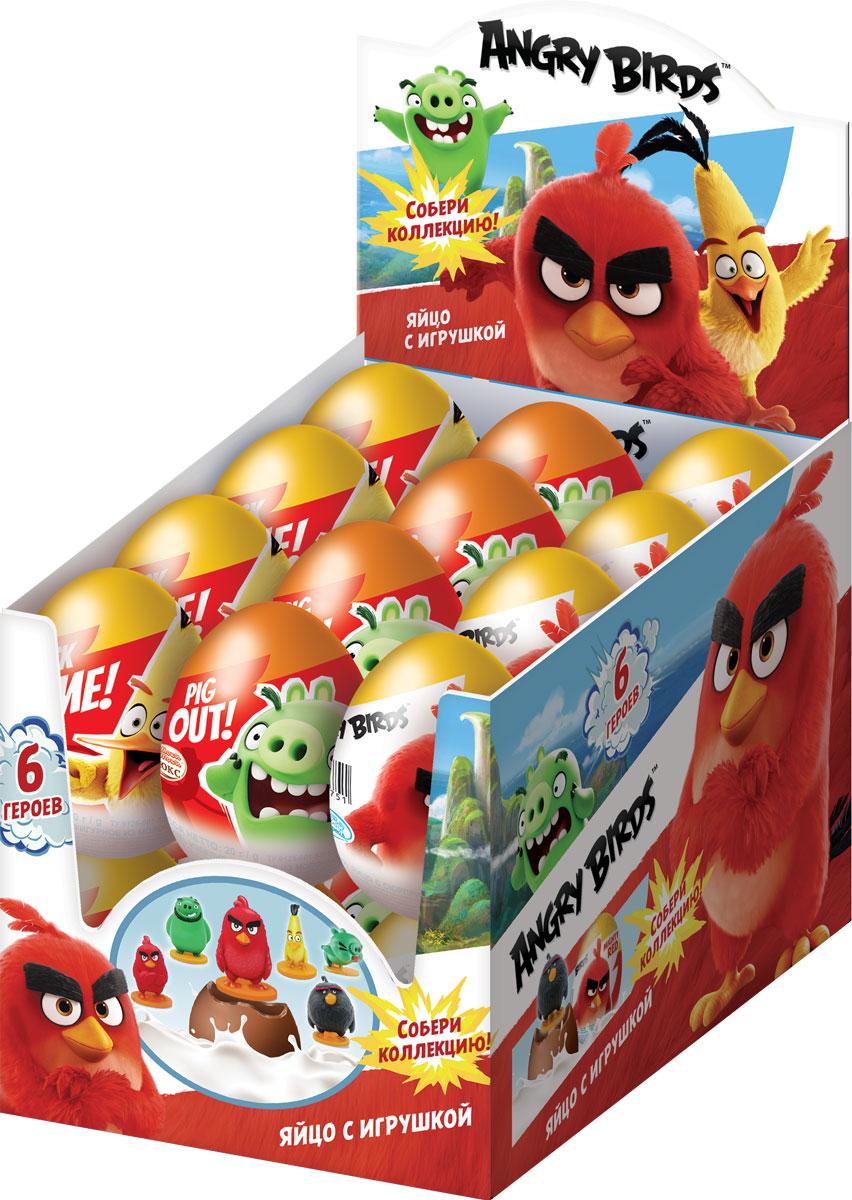 Angry Birds Movie молочный шоколад с сюрпризом, 24 шт по 20 г0120710Знаменитые птицы и свинки - 6 игрушек.УВАЖАЕМЫЕ КЛИЕНТЫ! Товар поставляется в цветовом ассортименте. Поставка осуществляется в зависимости от наличия на складе.