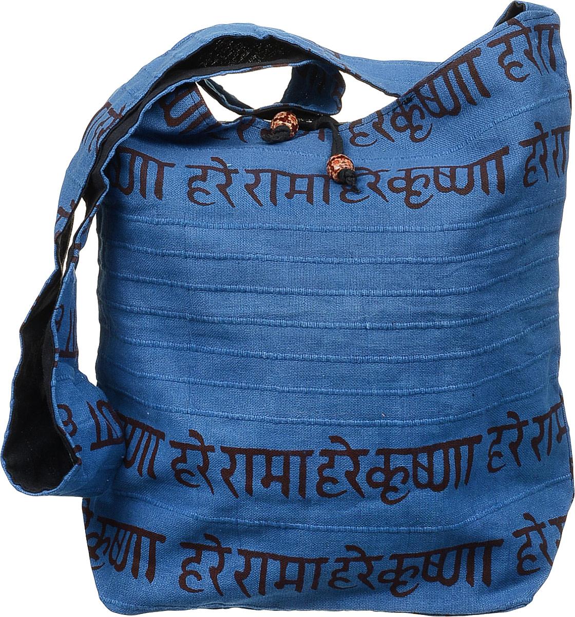 Сумка женская Ethnica, цвет: синий. 20415071069с-2Женская сумка Ethnica изготовлена из текстиля. Дополнена модель прочными удобными ручками и украшена тонкой вышивкой. Застегивается изделие на застежку-молнию.