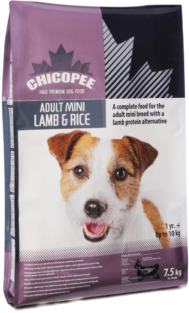 Корм сухой Chicopee Mini Lamb & Rice для собак миниатюрных пород, с ягнёнком и рисом, 7,5 кг101246Мелкие и миниатюрные породы собак наиболее популярны сегодня, однако кормить их тем же кормом, что и более крупных сородичей, не стоит. Таким животным требуется большее количество протеина для поддержания и развития организма и всех его функций. Кроме того, мелкие питомцы обладают чувствительным желудком. Именно поэтому в линейке Chicopee появился специальный корм для собак миниатюрных пород с ягненком и рисом.Его главное отличие заключается в использовании альтернативного мясного компонента — мяса ягнёнка. Этот нежный, богатый белком сорт мяса имеет самый низкий аллергенный потенциал, поэтому прекрасно подходит миниатюрным собакам с чувствительным желудком и склонностью к аллергии. А в качестве источника углеводов в корме используется низкокалорийная основа из риса. Это особенно важно, ведь собачки мелких пород ведут малоактивный образ жизни и склонны к набору лишнего веса.Помимо основных компонентов весь состав Chicopee для собак миниатюрных пород с ягнёнком и рисом подобран с учетом особенностей и возможных заболеваний такого питомца. Так, корм содержит большое количество инулина и манановых олигосахаридов, которые налаживают работу желудка, формируют здоровую кишечную микрофлору и снижают риск появления расстройств. Глюкозамин и хондроитин поддерживают здоровое состояние костей и являются эффективным профилактическим средством переломов и вывихов. Жирные кислоты обеспечивают прекрасное состояние шерсти животного, ее прочность, шелковистость и блеск.Гранулы корма имеют небольшой размер, поэтому у собаки не будет затруднений в процессе питания. Кроме того, в составе есть компонент, препятствующий развитию зубного камня, что является частой проблемой мелких собак. Такой сбалансированный состав делает рацион с ягнёнком и рисом для собак миниатюрных пород профилактическим средством многих болезней вашего питомца.Ингредиенты:Мука из мяса ягненка (мин. 22,0%), рис (мин. 11