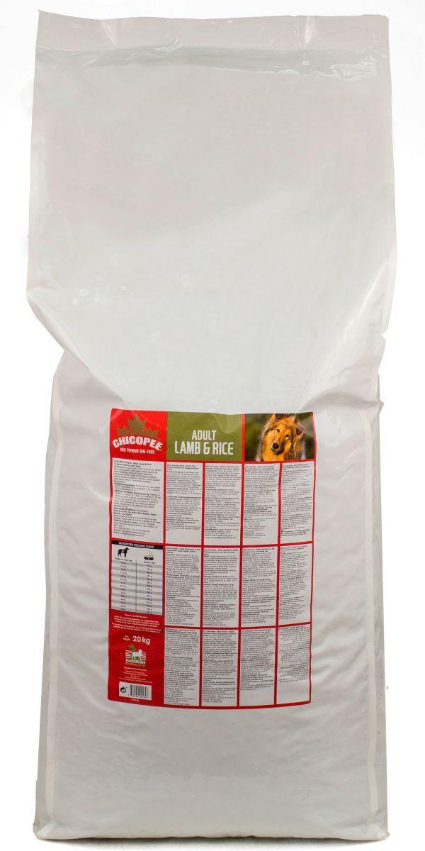 Корм сухой Chicopee Lamb Rice для взрослых собак, гипоаллергенный, с ягненком и рисом, 20 кг kosichki dlya studentok