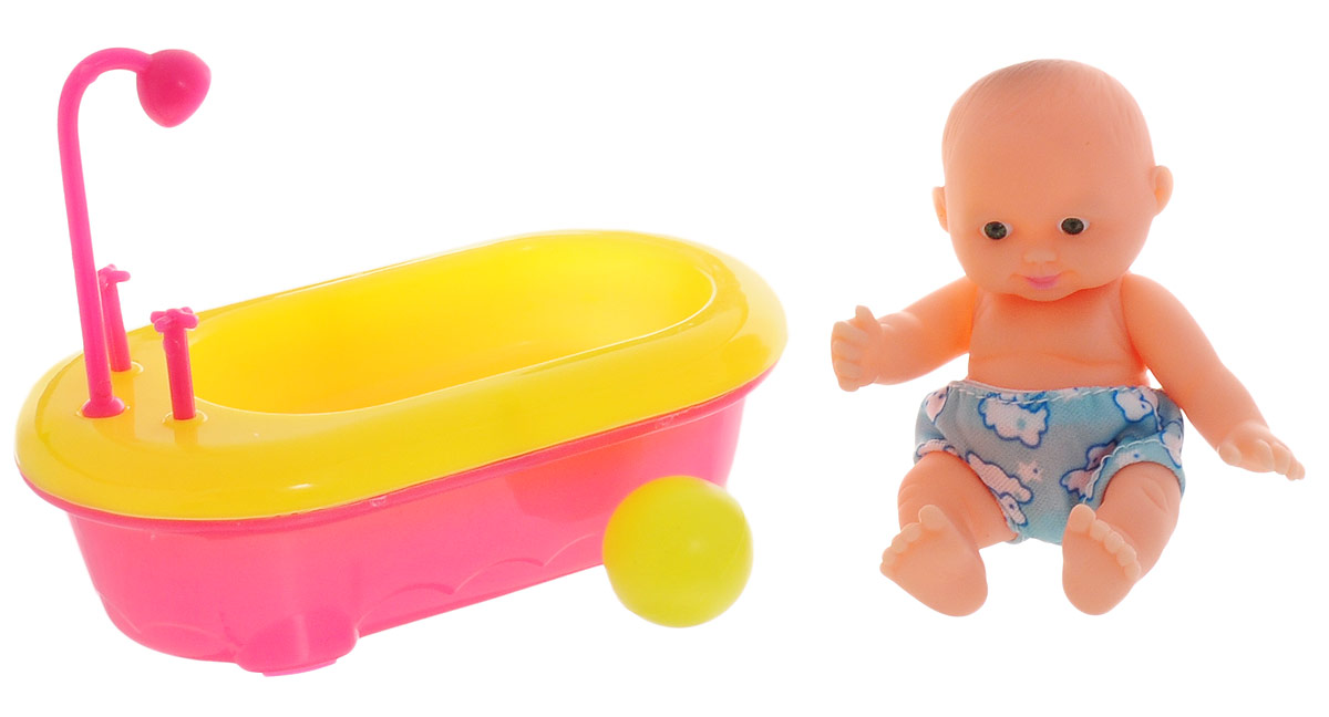 ABtoys Игровой набор с куклой Мой малыш с ванной