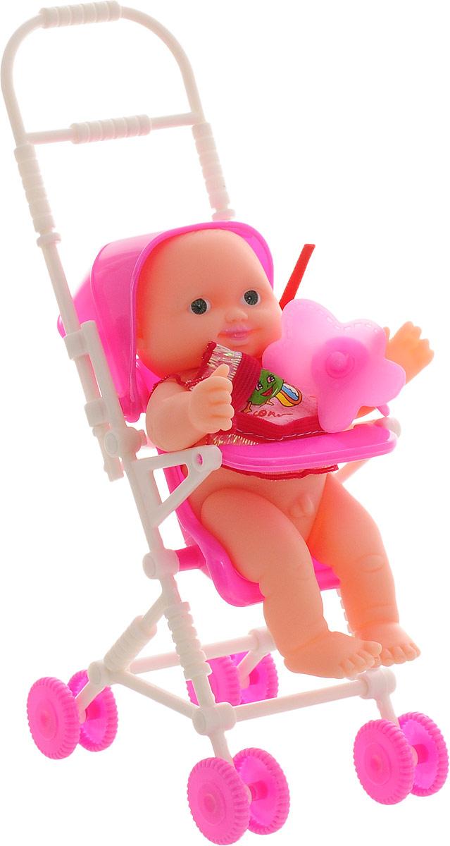 ABtoys Игровой набор с куклой Мой малыш с коляской