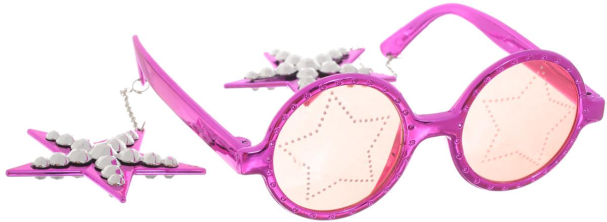 Partymania Очки для вечеринок Звезды цвет фиолетовый -  Очки карнавальные