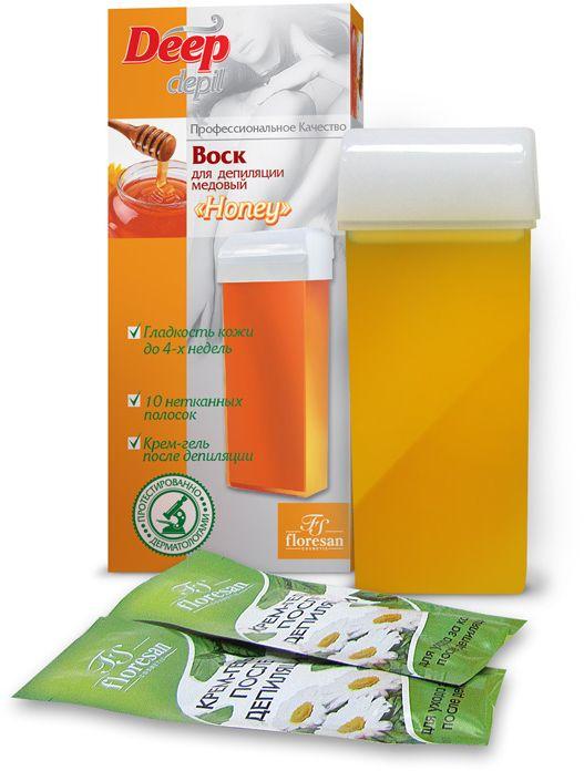 Floresan Deep Depil Воск для депиляции медовый Honey, 100 мл воск для депиляции kapous 388 жирорастворимый воск