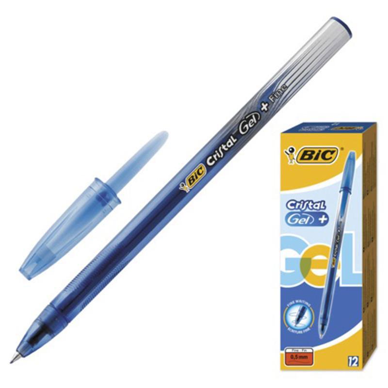 Bic Ручка гелевая Crystal Gel цвет синийB905489Гелевая ручка BIC Cristal Gel с чернилами на водной основе, отлично подойдет для любителей гелевых ручек. Ручка оснащена резиновым гриппом для комфортного письма, который препятствует скольжению в пальцах. Качественные чернила обеспечивают четкое и ровное письмо. Ручка имеет тонкий пишущий узел. Диаметр пишущего узла - 0,5 мм. Полупрозрачный корпус позволит видеть уровень чернил. Цвет корпуса соответствует цвету чернил.Тонкая линия письма - 0,36 мм.Гелевая ручка BIC Cristal Gel обеспечит вам мягкое письмо. Дизайн ручки выполнен с эффектом металлик.Уважаемые клиенты! Обращаем ваше внимание на возможные изменения в дизайне упаковки. Качественные характеристики товара остаются неизменными. Поставка осуществляется в зависимости от наличия на складе.
