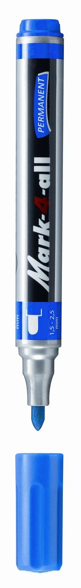 Stabilo Маркер перманентный цвет синий72523WDЗаправляемый маркер с несмываемыми чернилами.Круглый наконечник позволяет проводить линии толщиной от 1,5 до 2,5 мм.Подходит для рисования и маркировки практически на любых поверхностях. Надписи мгновенно высыхают и не размазываются.Высокая морозостойкость, светостойкость и влагостойкость чернил. Чернила на спиртовой основе обладают нейтральным запахом.