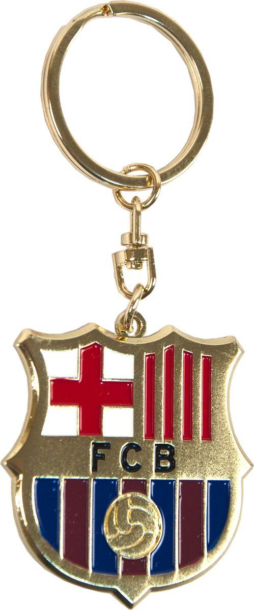 Брелок Atributika & Club Barcelona, цвет: синий, красный. 232119320Брелок Atributika & Club выполнен из металла в виде символики вашего любимого клуба. Брелок дополнен небольшой цепочкой и заводным кольцом. Длина: 4,5 см.