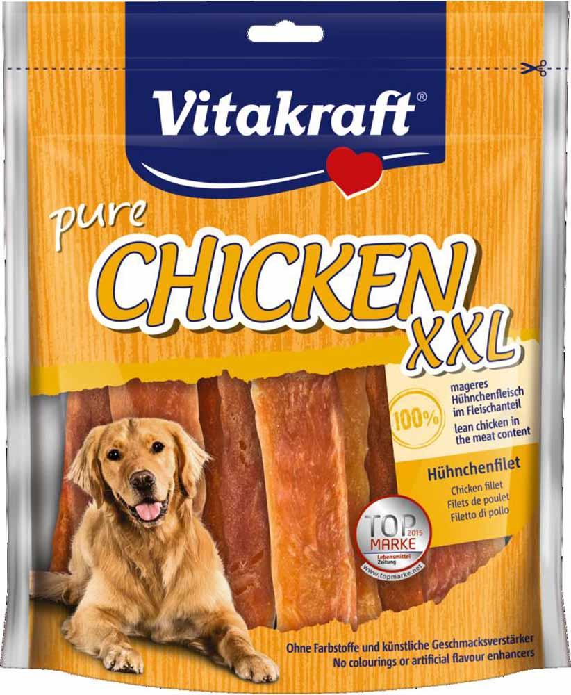 Лакомство Vitakraft, для собак, филе куриное, 250 г14585Лакомство для собак Vitakraft из нежного куриного мяса является превосходным дополнением к основному рациону.Состав: куриные грудки 95%, растительные экстракты, минералы.