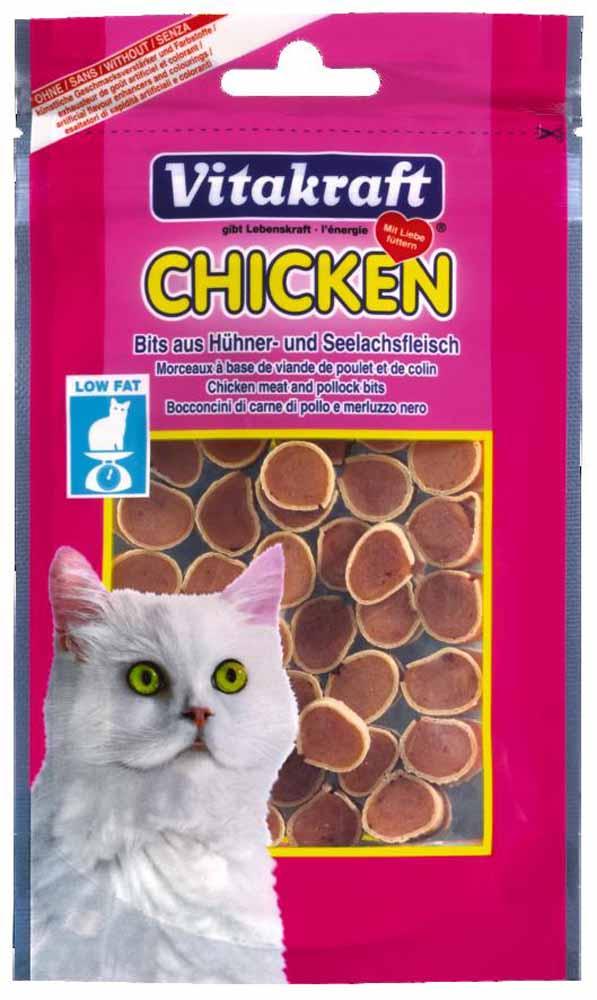Лакомство Vitakraft, для кошек, суши с курицей и сайдой, 50 г0120710Лакомство для кошек из нежного куриного мяса c низким содержанием жира. Без искусственных красителей и усилителей вкуса. Предназначены в качестве дополнения к основному корму.