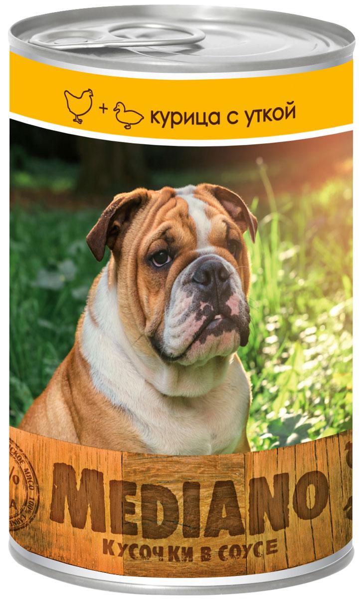 Консервы Vita Pro Mediano, для собак, с курицей и уткой, 405 г9466102Полнорационный корм для средних пород собак в виде мясных кусочков в соусе. Не содержит ГМО, усилителей вкуса, ароматизаторов и красителей.