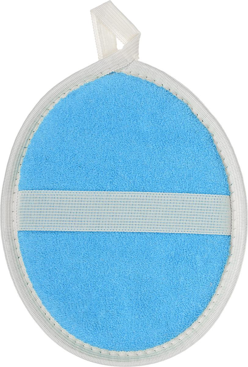 Мочалка овальная Eva, цвет: серый, голубой6Мочалка овальная Eva, цвет: серый, голубой