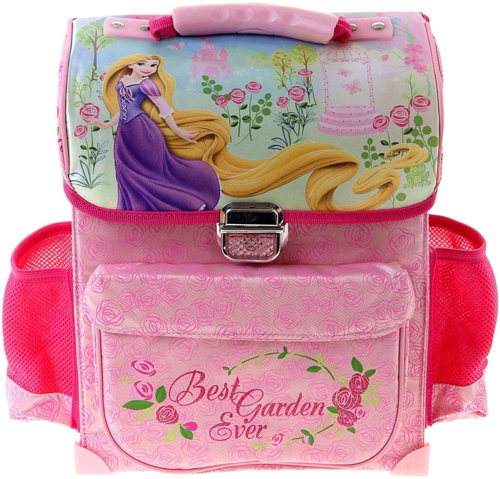 Disney Ранец школьный Принцесса цвет бордовый розовый1060944Ранец, или портфель, — это жёсткая ученическая сумка, которая является традиционным атрибутом школьного «снаряжения».Характеристики идеального современного ранца для школьника выглядят так:жёсткие корпус и спинка;регулируемые широкие мягкие лямки;наличие светоотражателей;масса — 600?800 г;мягкие подушечки на спинке и сетчатая, «дышащая» задняя сторона.Ранец на замке Disney Принцесса 34*27*12, для девочки — это очень практичное и качественное текстильное изделие, которое отвечает всем перечисленным требованиям.Жёсткий корпус защитит ребёнка и содержимое: он не позволит книгам и учебникам «втыкаться» в спину и сбережёт ранец, если ученик его уронит. А смягчающие элементы (поролон и сетка) сделают процесс ношения этого изделия комфортным.