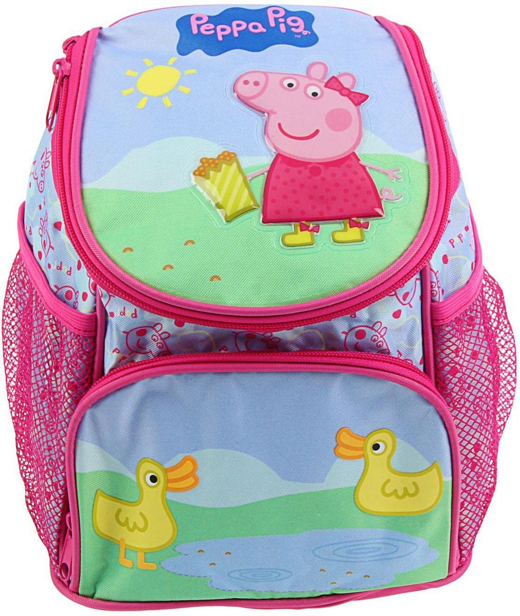 Peppa Pig Рюкзак детский Утка1392320Яркий, пёстрый и невероятно милый Рюкзачок детский Свинка Пеппа. Утка сиреневый 23*19*8 см позволит вашему чаду почувствовать себя самостоятельным, приучит его к аккуратности и дисциплине.Такой изысканный текстильный мини-рюкзак девочки могут использовать как косметичку, складывая туда детскую помаду и блёстки. А парни с удовольствием положат туда несколько любимых машинок и футбольный мяч или, позабыв обо всём, будут бегать с друзьями во дворе, поместив сумку себе за спину.Рюкзачок детский Свинка Пеппа. Утка сиреневый 23*19*8 см — прекрасный подарок ребёнку на день рождения или стимул начать подготовку к новому учебному году. Осчастливьте своё дитя красивой и надёжной вещью, и его радостная улыбка будет для вас заслуженной наградой!