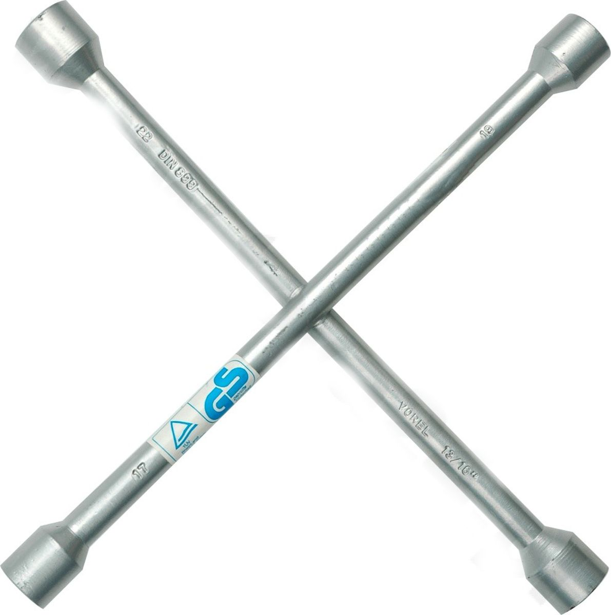 Ключ балонный Vorel, крест 17x19x22x13/16CA-3505Ключ балонный VOREL крестовой, размер 17x19x22x13/16.