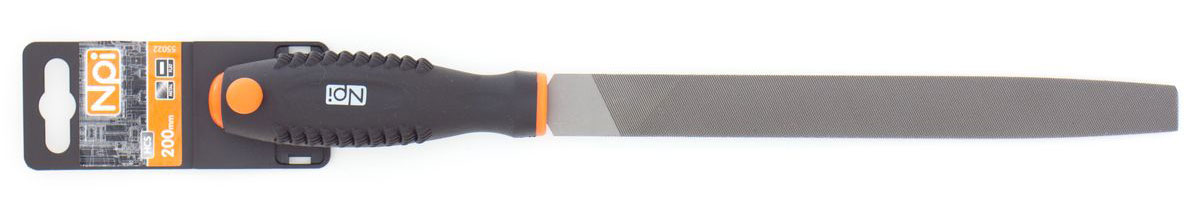 Напильник NPI HCS, по металлу, плоский, с двухкомпонентной ручкой, 200 мм/2CA-3505Напильник NPI по металлу плоский, 200мм/2, HCS, 2-х компонентная ручка.