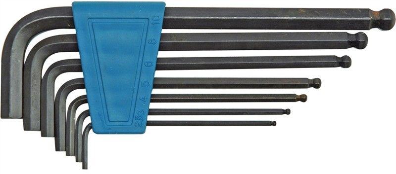 Набор шестигранников Vorel, с шаровым наконечником, 2.5-10 мм, 7 предметовCA-3505В комплект для нарезания внутренней резьбы входят сверла 2, 5-3, 3-4, 2-5, 0-6, 8-8, 5-10, 2 мм, метчики М3 х 0, 5, М4 х 0, 7, М5 х 0, 8, М6 х 1, 0, М8 х 1, 25, М10 х 1, 5, М12 х 1, 75, метчикодержатель. Набор упакован в удобную металлическую коробку.