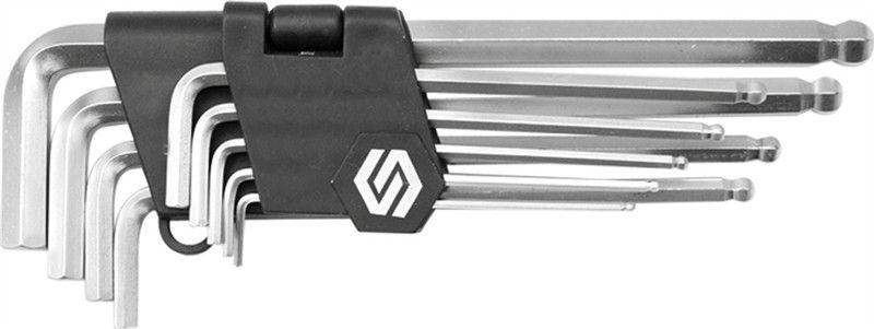 Набор шестигранников Vorel CrV, с шаровым наконечником, 2-10 мм, 9 предметовCA-3505Набор шестигранных ключей с шаровым наконечником VOREL, размеры 2-10 мм, 9 штук. Выполнены из инструментальной стали CrV.