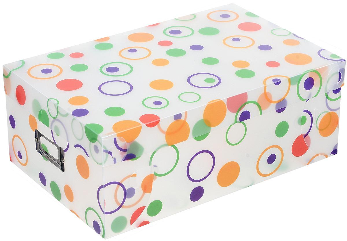 Бокс для хранения вещей Paterra, с крышкой, складной, 35 х 23 х 13 см402-449Бокс Paterra изготовлен из прочного полипропилена и предназначен для хранения вещей, удобен для мелочей, одежды, канцелярских товаров, мелких детских игрушек.Легко моется.