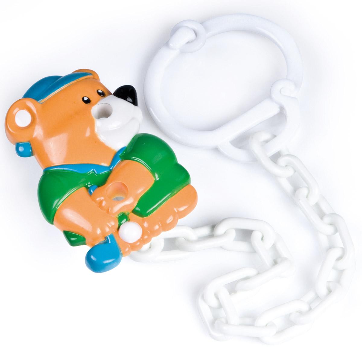 Canpol Babies Клипса-держатель для пустышки Мишка babyono клипса держатель для пустышки коровка цвет бежевый