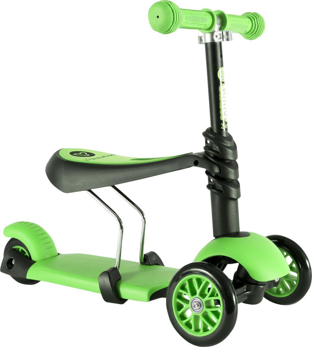 YVolution Самокат-беговел Glider 3 в 1 цвет зеленый -  Беговелы