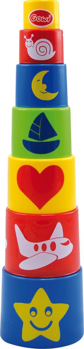 Gowi Набор игрушек для песочницы Ведерко-пирамидка Формочки 7 шт - Игры на открытом воздухе
