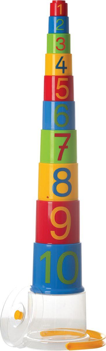Gowi Набор игрушек для песочницы Ведерко-пирамидка Цифры 10 шт - Игры на открытом воздухе