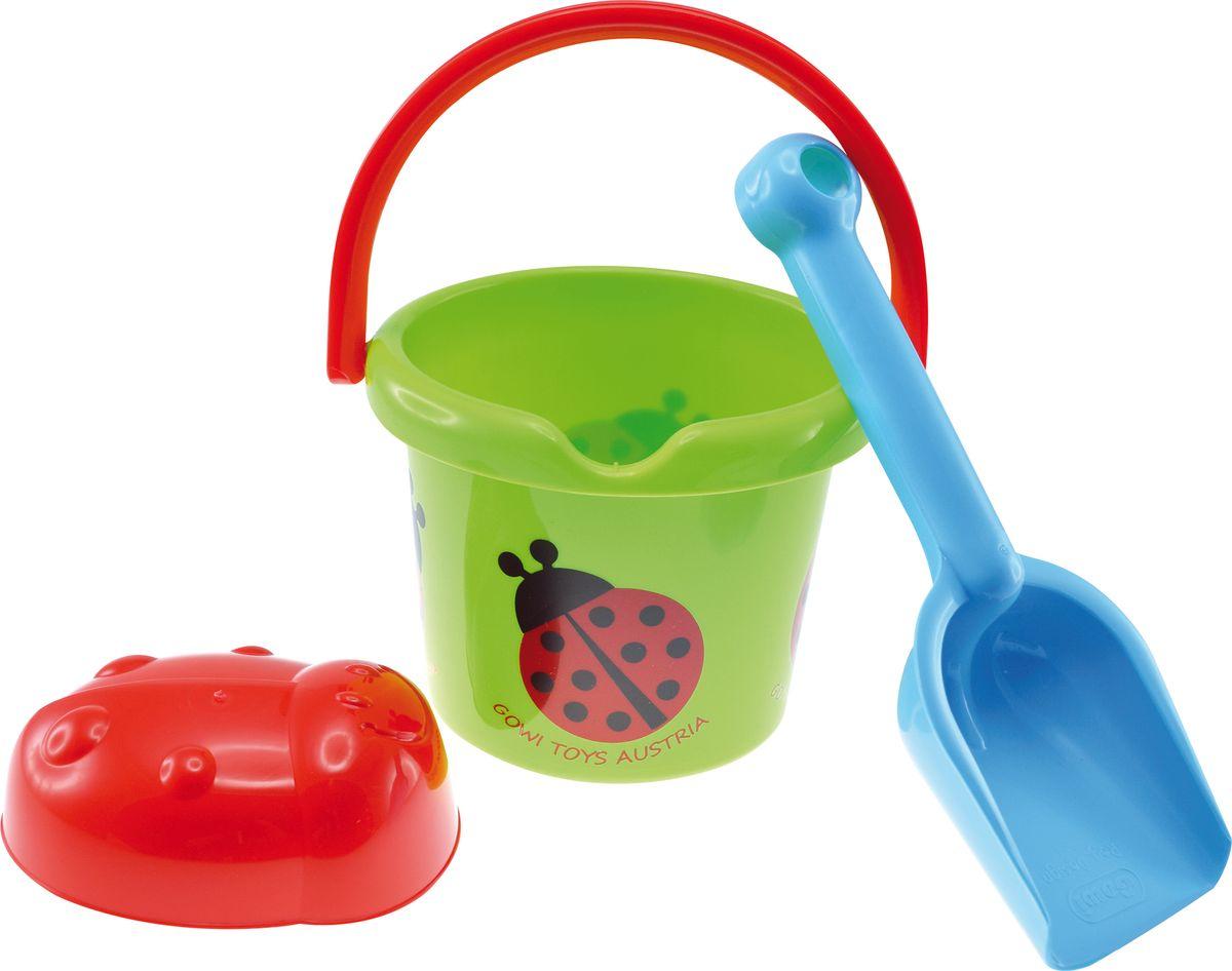 Gowi Набор игрушек для песочницы Ведерко совочек формочка формочка для песка gowi кекс 558 59