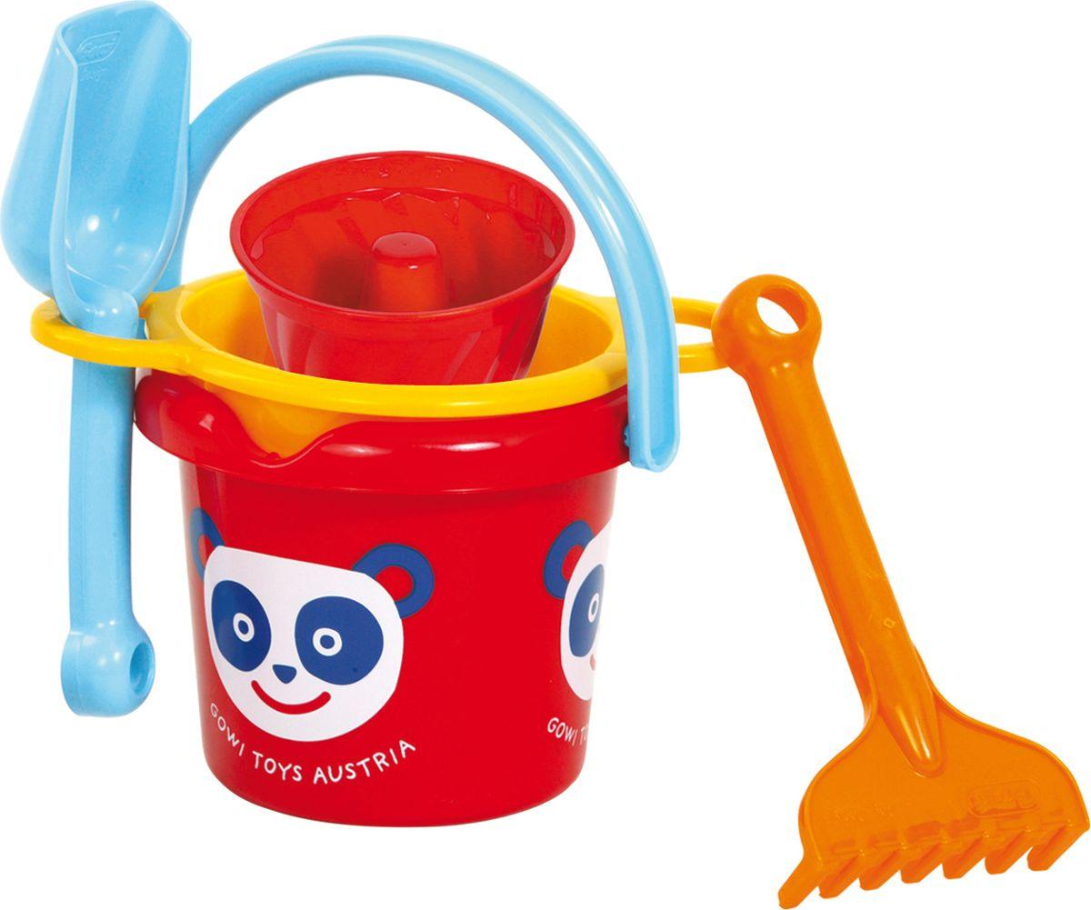 Gowi Набор игрушек для песочницы Ведерко грабли совочек формочка формочка для песка gowi кекс 558 59