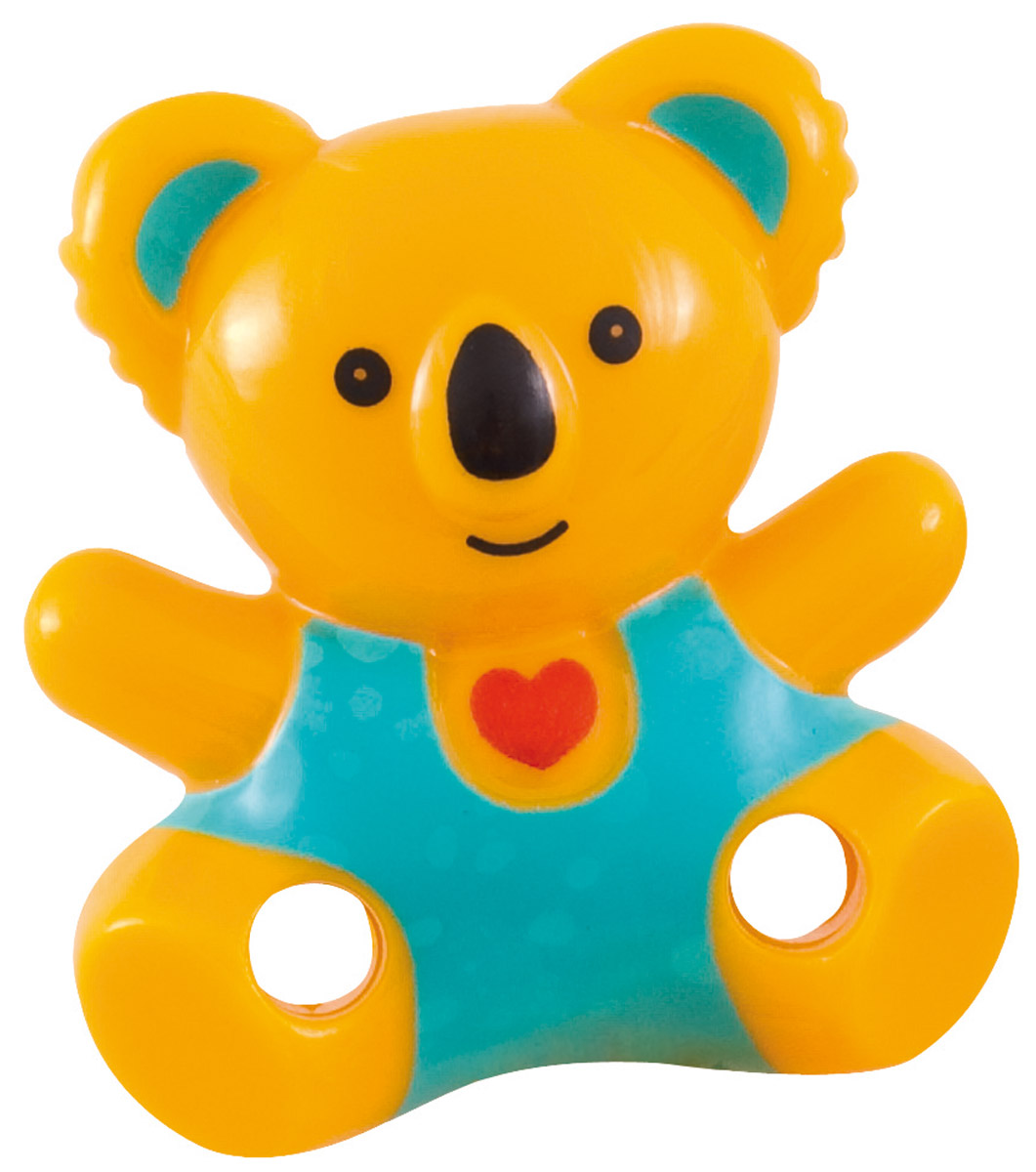 Canpol Babies Клипса-держатель для пустышки Медвежонок с сердечком цвет желтый
