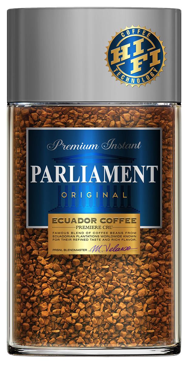 Parlament Original кофе растворимый, 100 г0120710Кофе PARLIAMENT - это высокогорная эквадорская арабика, выросшая прямо на Экваторе, на склонах Анд. Кофейные зерна, вызревшие на высоте около 2000-2800 м выше уровня моря, под лучами жаркого солнца, на чистом воздухе в условиях минимальных температурных перепадов, обладают превосходными характеристиками. Кофе Parliament высоко ценится во всем мире за свой насыщенный вкус и высокое содержание полезных веществ.